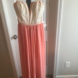 Beautiful pink and white maxi